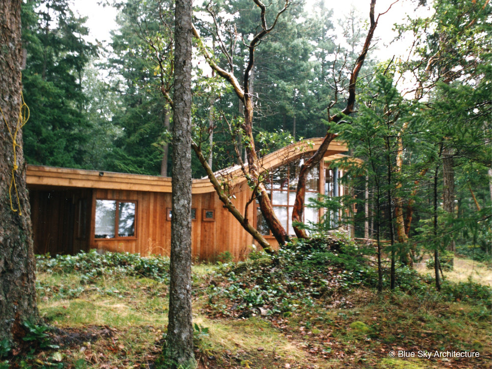 Exterior Forest View of Heavy Timber Residence
