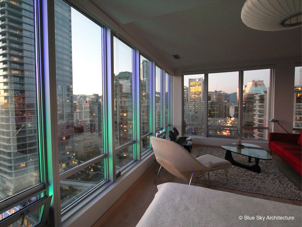 Vancouver Condo with floor to ceiling windows