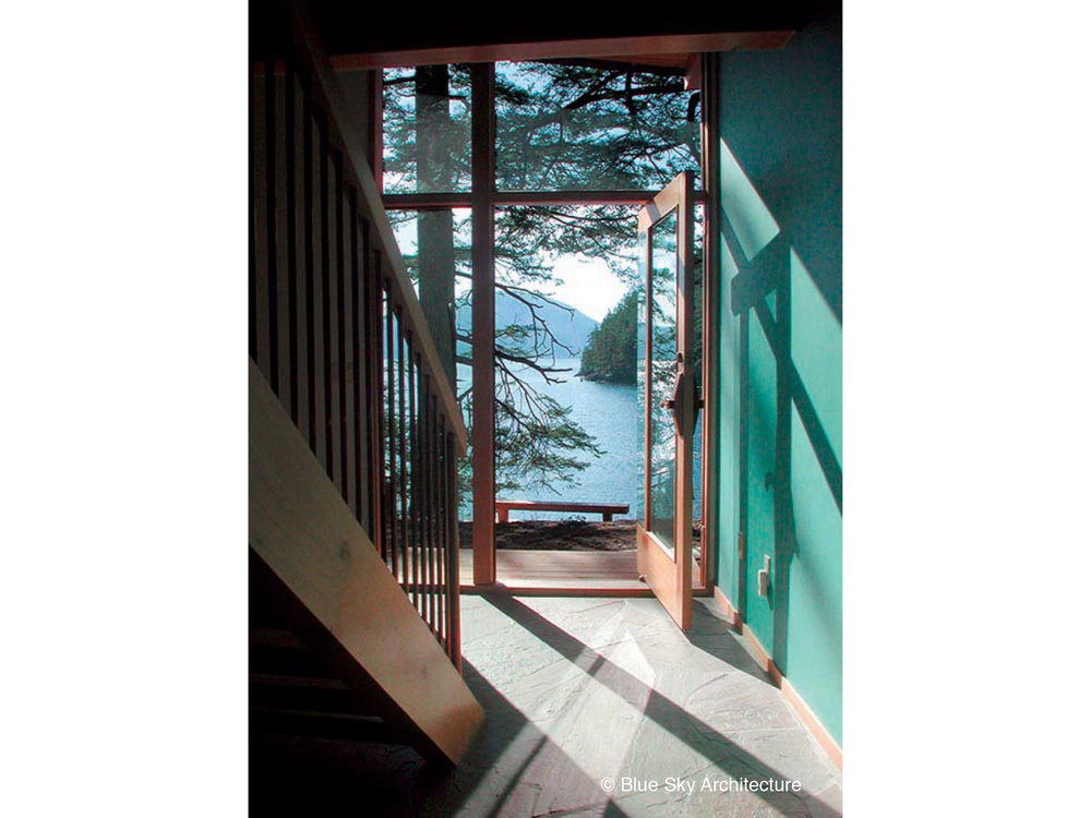 Ocean views from the front entrance of Deer Path House