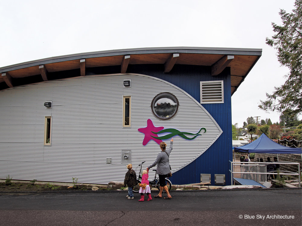 Exterior walkway of the Ucluelet Aquarium