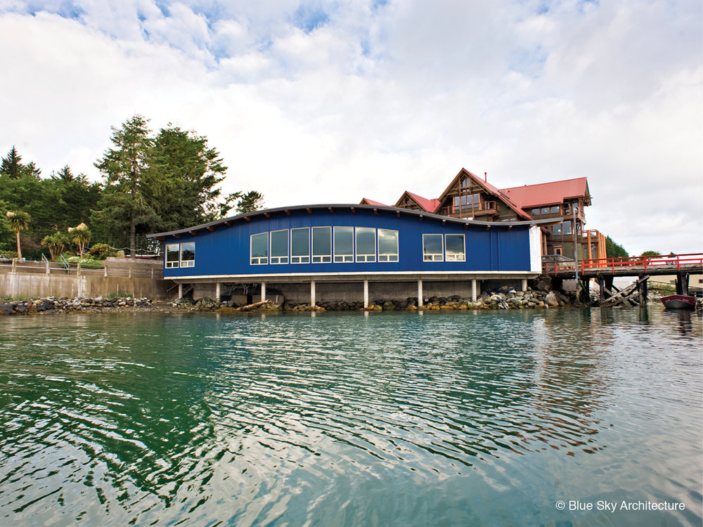 Harbourfront view of the Ucluelet Aquarium