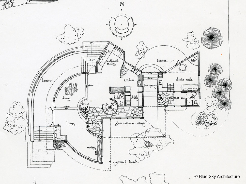 Bench Spiral House Floor Plan