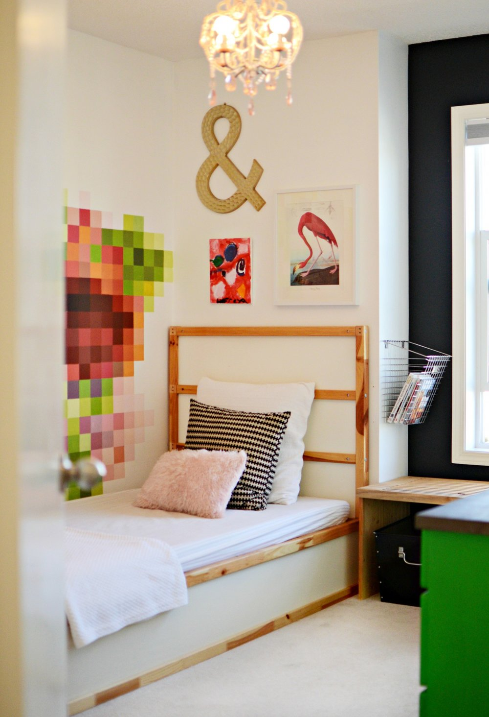 Colourful Girl's Bedroom | Marlo Creative Interiors | Calgary Interior Designer