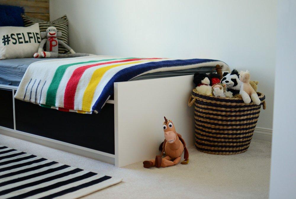 Vintage Industrial Boy's Bedroom Makeover | Marlo Creative Interiors | Calgary Interior Designer