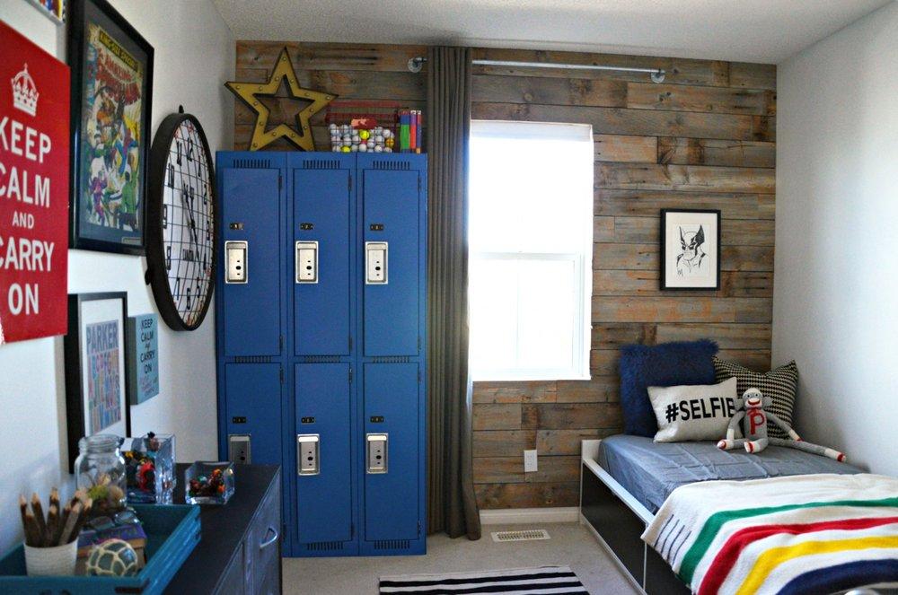 Calgary Interior Designer - Rustic Canadiana Boys Bedroom & vintage industrial style boys room \u2014 Marlo Creative Interiors