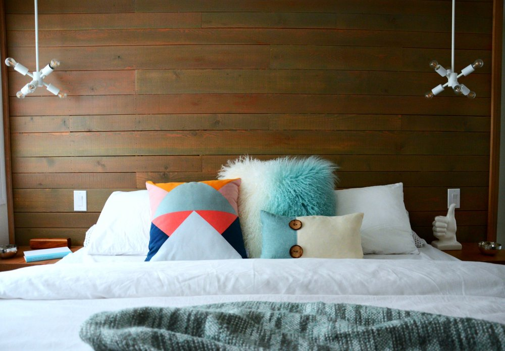 Colourful Master Bedroom and Ensuite   Marlo Creative interiors   Calgary Interior Designer