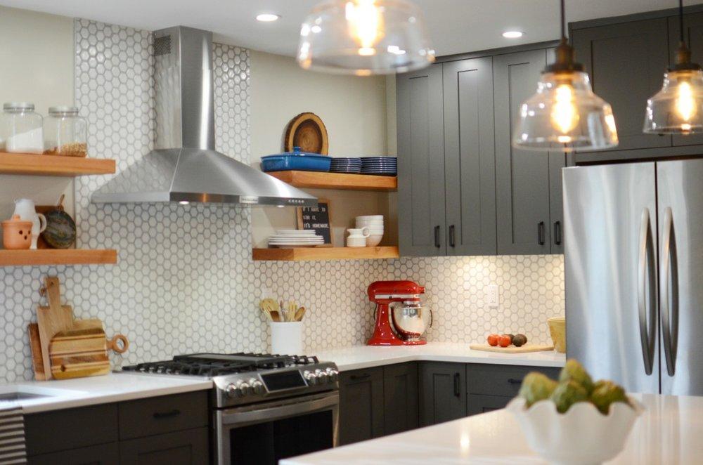Modern Farmhouse Kitchen Remodel | Marlo Creative Interiors | Calgary Interior Designer