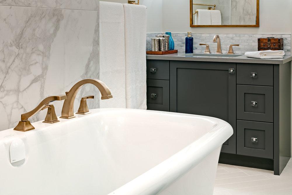 Glamorous Master Bath Remodel | Marlo Creative Interiors | Calgary Interior Designer