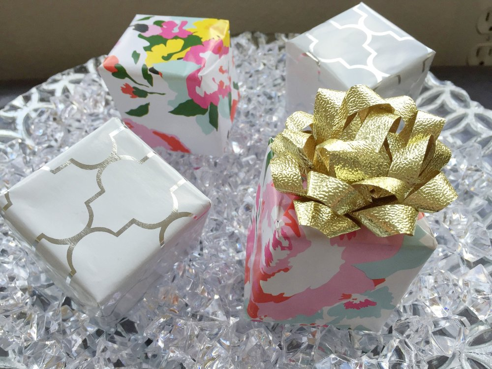 gift wrapped lip balm gifts