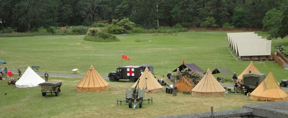 A view of the encampment during our annual May event.