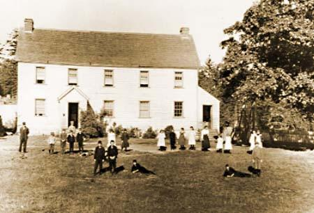 Craigflower Schoolhouse, built in 1854. The Manor house was completed in 1856. Photo courtesy of  Historicplaces.ca
