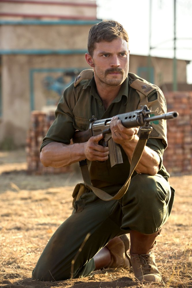 Commandant Pat Quinlan, played by Jamie Dornan.