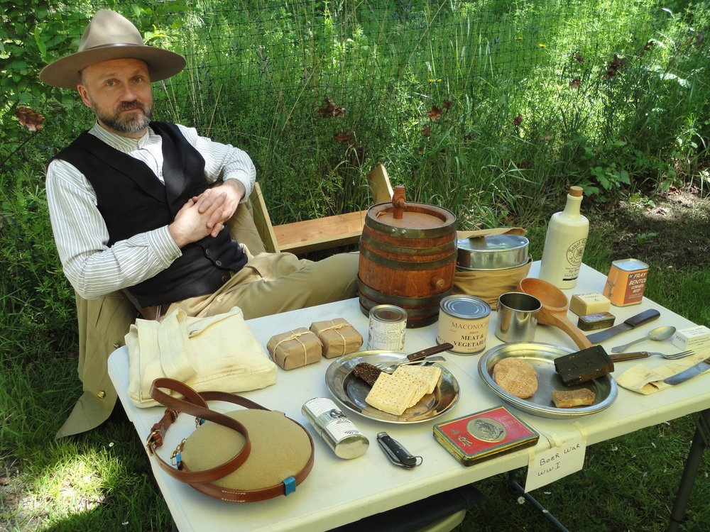 A display of Boer War field rations.