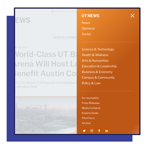Modernizing The University of Texas' News Publication. - See how I redesigned UT News for mobile-first and modern news-consuming habits.