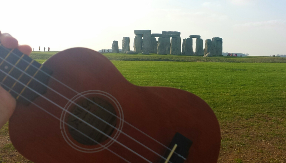 Once in 2015 I brought a ukulele to Stonehenge
