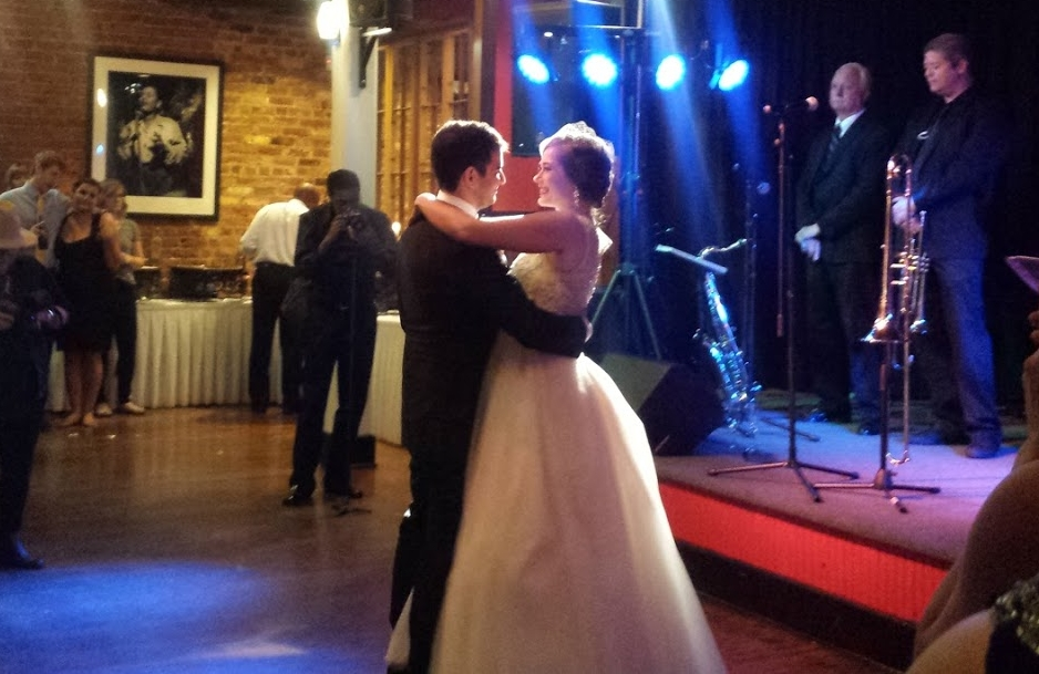 Here's a blurry photo of their first dance! They are beautiful people and I'm so excited for them!!