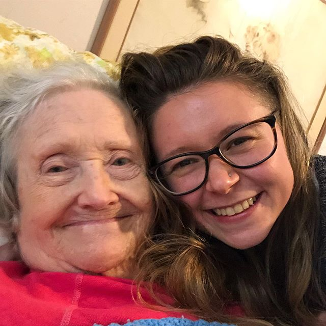 Feeling fortunate that I was able to spend the day with Grandma Nora yesterday 🥰