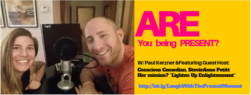 "Honored to be guest host on ""Are you Being Present"" with Paul Kerzner!"
