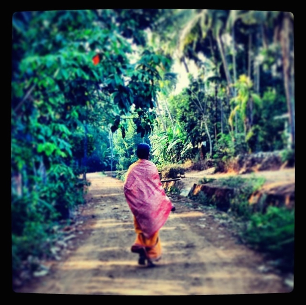 A photo taken in Kerala while studying yoga. She reminds me how beautiful it is to walk away.