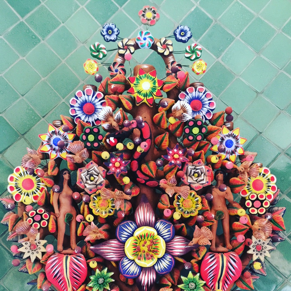 A tree of life... beautifully adorned, found while walking the streets of San Miguel.