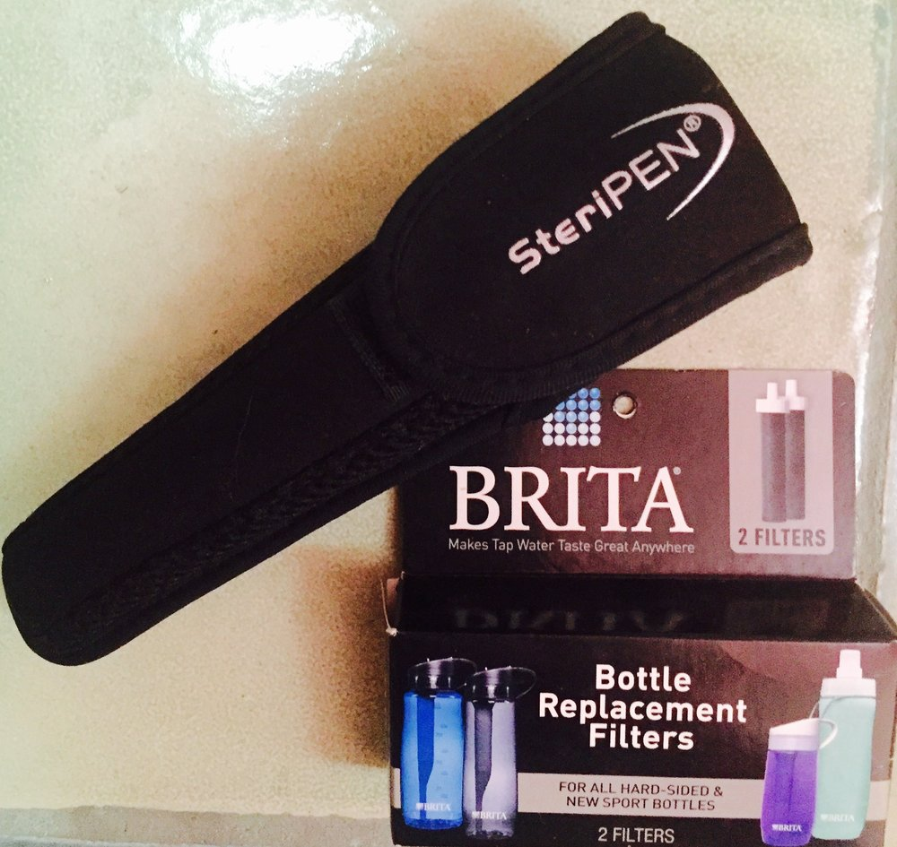 1. Steripen and or/Brita Water-bottle - Why waste plastic bottles!? With the Steripen or Brita water bottle you can have clean water anywhere you go without buying a single bottle.