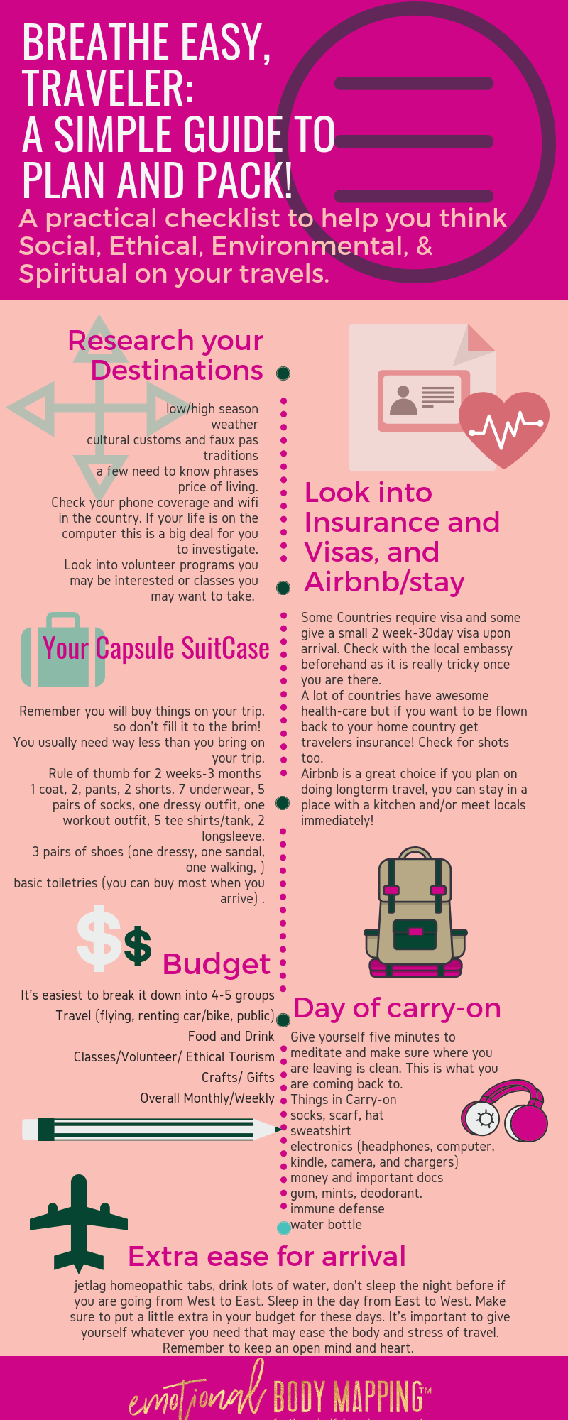Take this printable Infograph to plan your next trip from start to finish! - It can be easy to be eco and zero trace :)