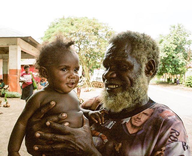 A proud grandpa and his grandson on the southern Vanuatu island of Tanna. Shot with Kodak Portra 160. . .#vanuatu #tanna #tannaisland #southpacific #lenakel #lenakelmarket #proud #proudgrandpa #oceana #filmisnotdead #pentaxmesuper #ishootfilm #kristofferpfalmer #kristofferglennimagery #pfalmer
