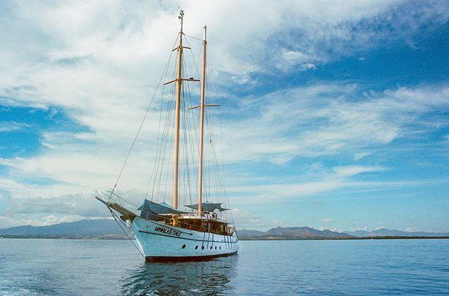 "Analog shot of the Schooner ""Whales Tale"" in Fiji. Minolta X-700 shooting Kodak Ektar 100. . . .#whalestale #fiji #nadi #denarau #sailing #mast #sail #pacific #oceana #daycruise #traveltheworld #wanderlust #analog #filmisnotdead #ishootfilm #kodakphoto #ektar100 #minoltax700 #kristofferpfalmer #kristofferglennimagery #pfalmer"