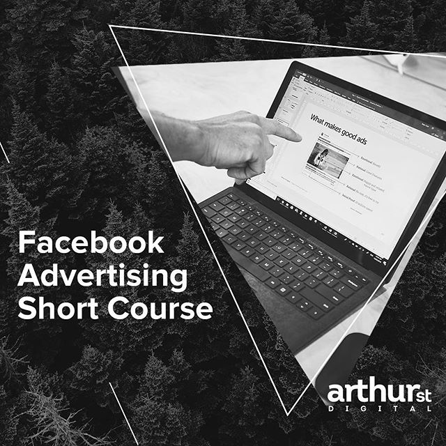 ↟ TRAINING ↟ Our next round of Facebook Advertising training is here - August 23, 9am - 12pm. It's our most popular 3 hour session, so secure your spot today! Information and bookings are on our website, link in bio #arthurstdigital #facebook #training
