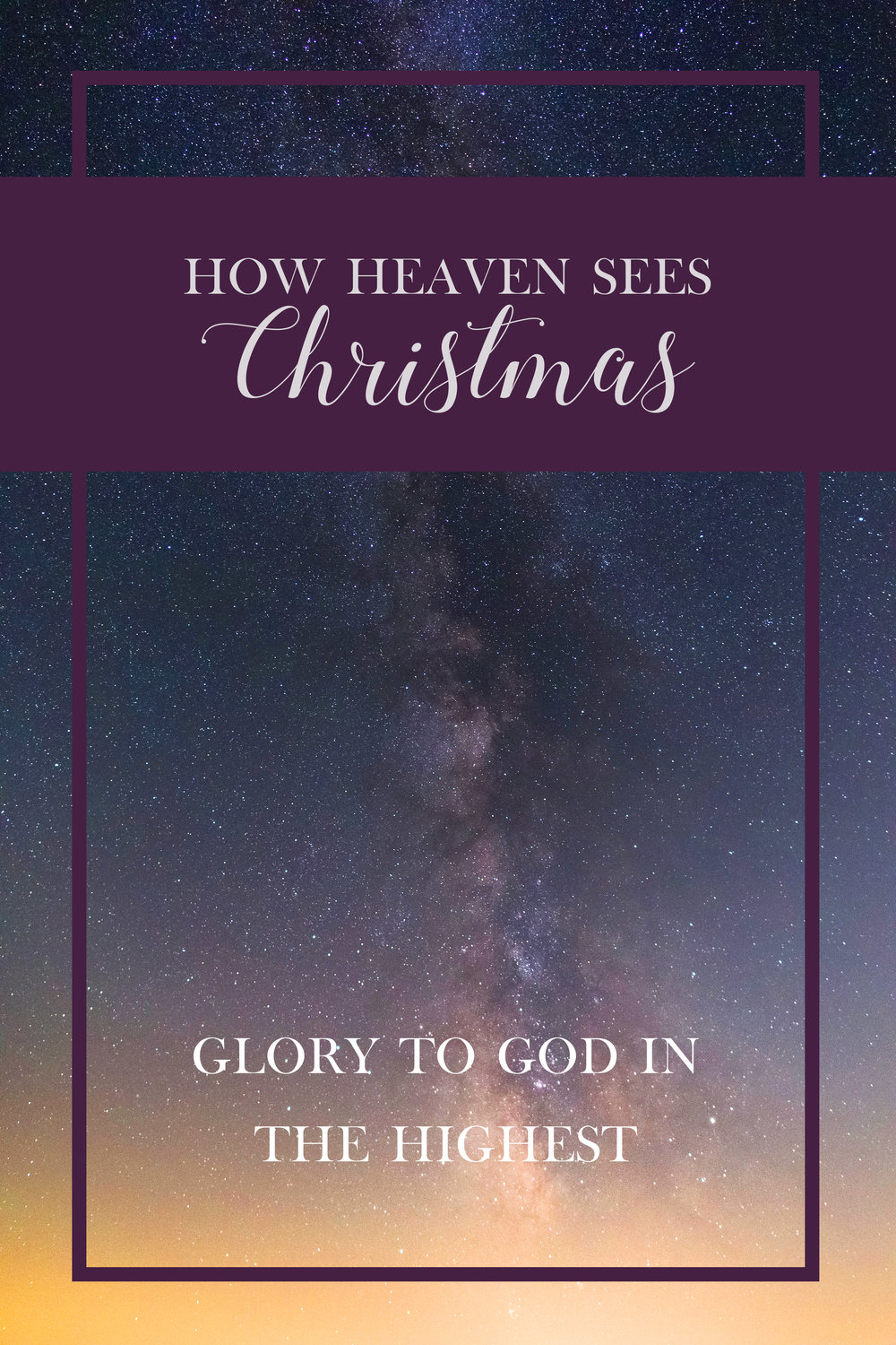 How do you find hope in Christmas when, year after year, the world just seems to grow darker? Perhaps it would help to take a look at Christmas from heaven's perspective.