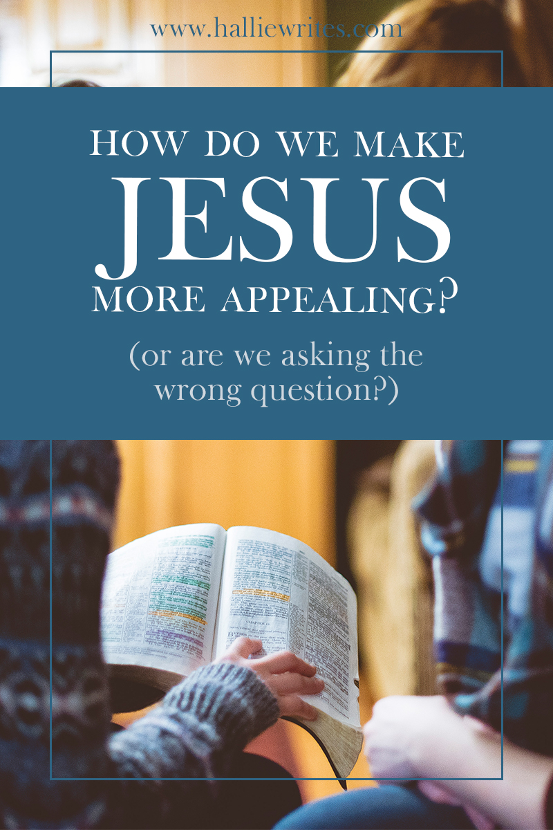 How do we make Jesus more inviting to the world, and make unbelievers want to come to church? Well, maybe we're asking the wrong question - maybe evangelism is more about us, and less about them.