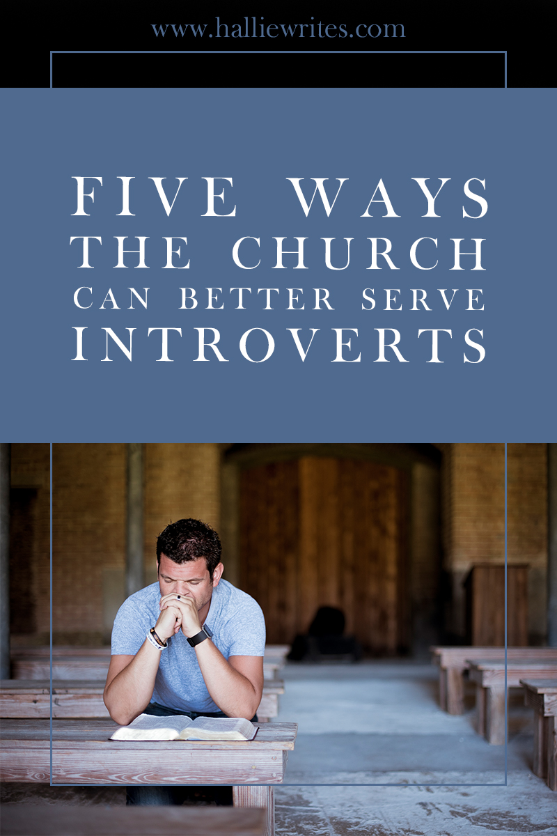 Five ways the church can better serve introverts: in general, the way that church services and ministries have evolved in the United States of America up to this point does not appeal to the instincts and personality traits of introverts. And while we have open conversations about ways to diversify our congregations by ethnicity, or ways to make the unmarried feel less alienated among us, I've never heard a single discussion about how a highly social institution such as the church can better serve their sometimes-less-social attendees.