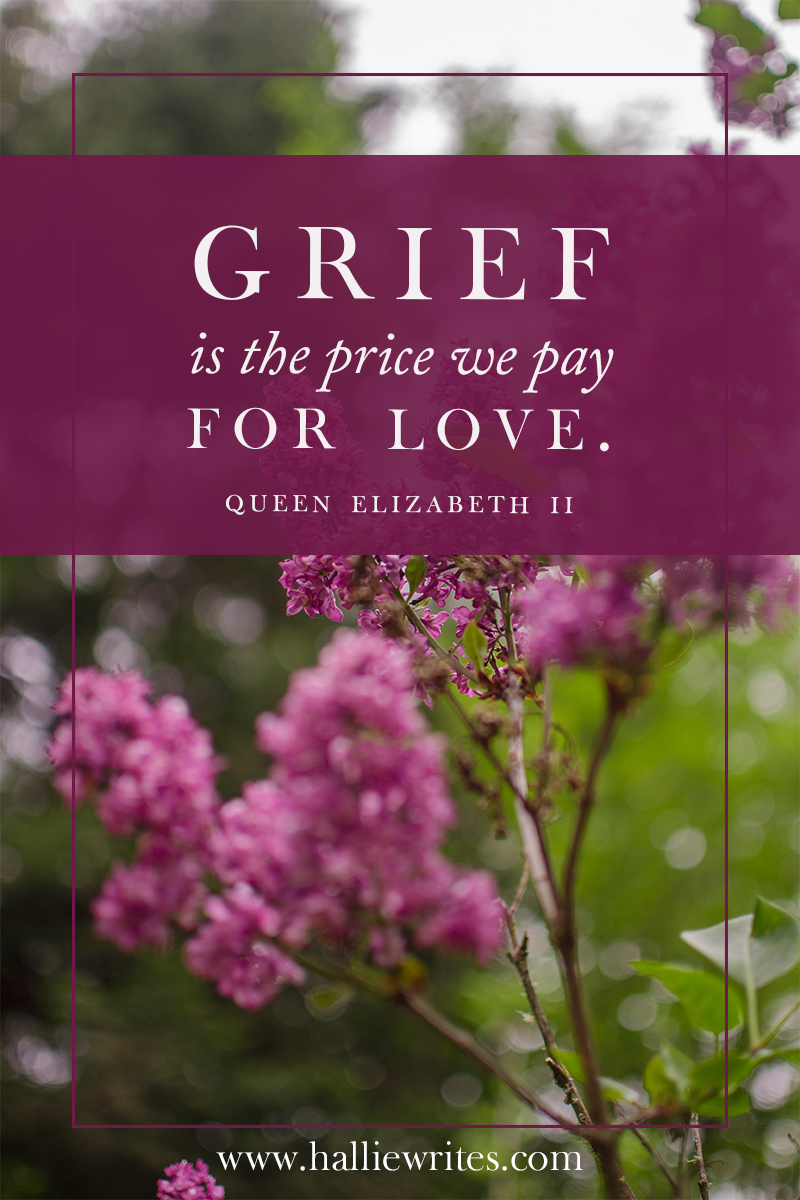 Grief is not a five step process. It's a tangle of unpredictable emotions that ebb and flow. I am learning that my God can be trusted to hold my world in His hands, and to work in deep and invisible ways - even in the ways I least expect Him to.