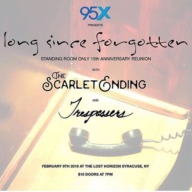 Saturday @95xsyracuse is presenting @longsinceforgottenband @thescarletending & @trespassersny at @thelosthorizonsyracuse. Make plans to be there for this one.