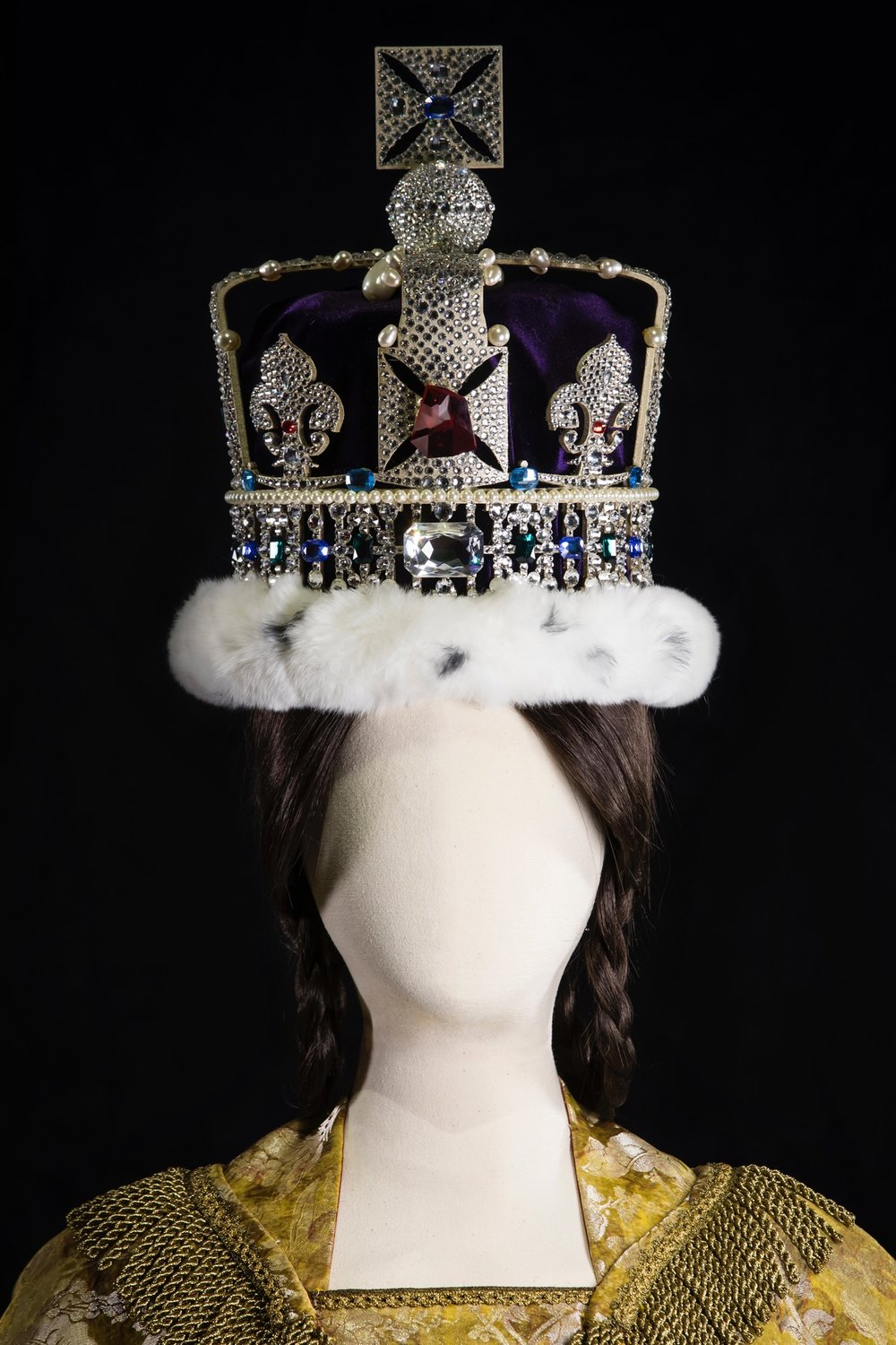 "Imperial State Crown Recreation by Tina Gancev - Exhibited at SCAD FASH, Museum of Fashion and Film, during the ""Cinematic Couture"" exhibit in Atlanta, GA."
