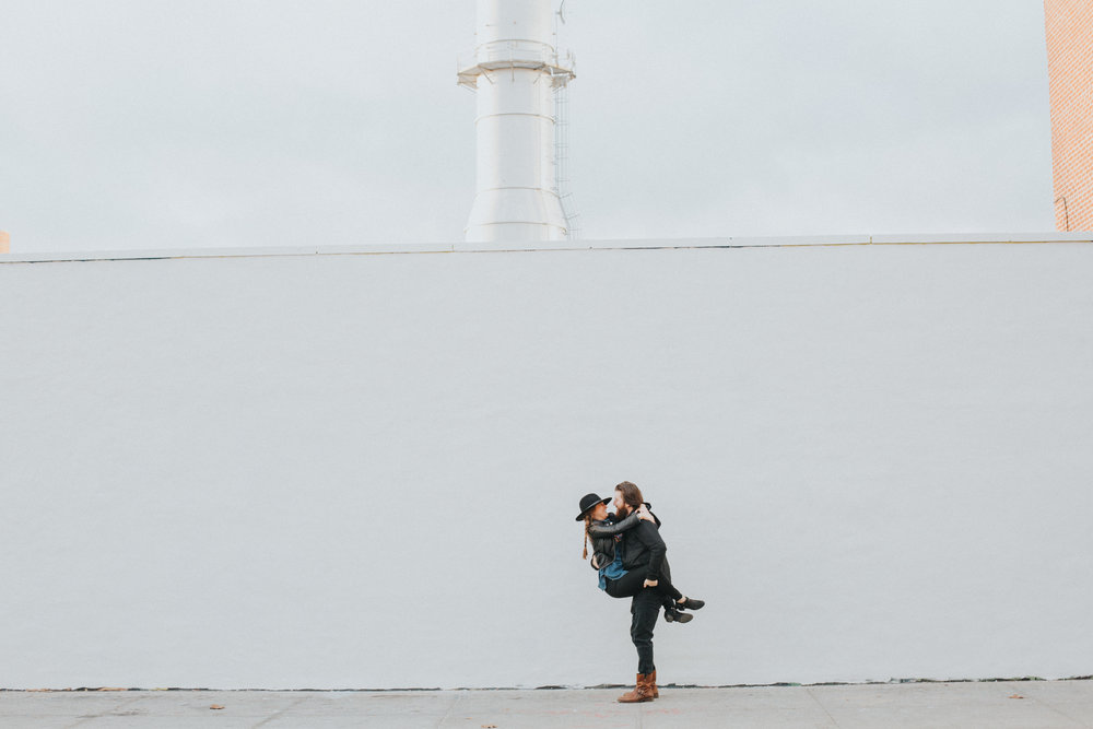 Unique Brooklyn Engagement Shoot