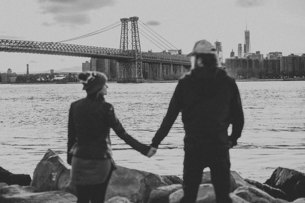Artistic Brooklyn Engagement Shoot