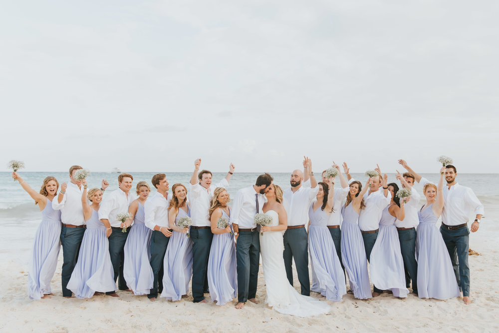 Beachey Bridesmaids Dresses in Mexico
