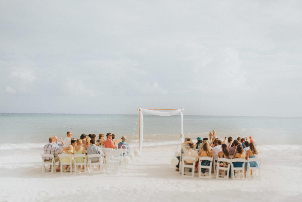 Private beach wedding in Mexico