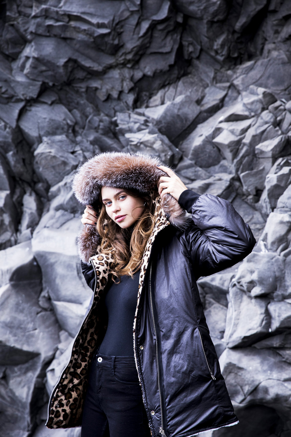 SAGA Parka in Snow Leopard by Therma Kota