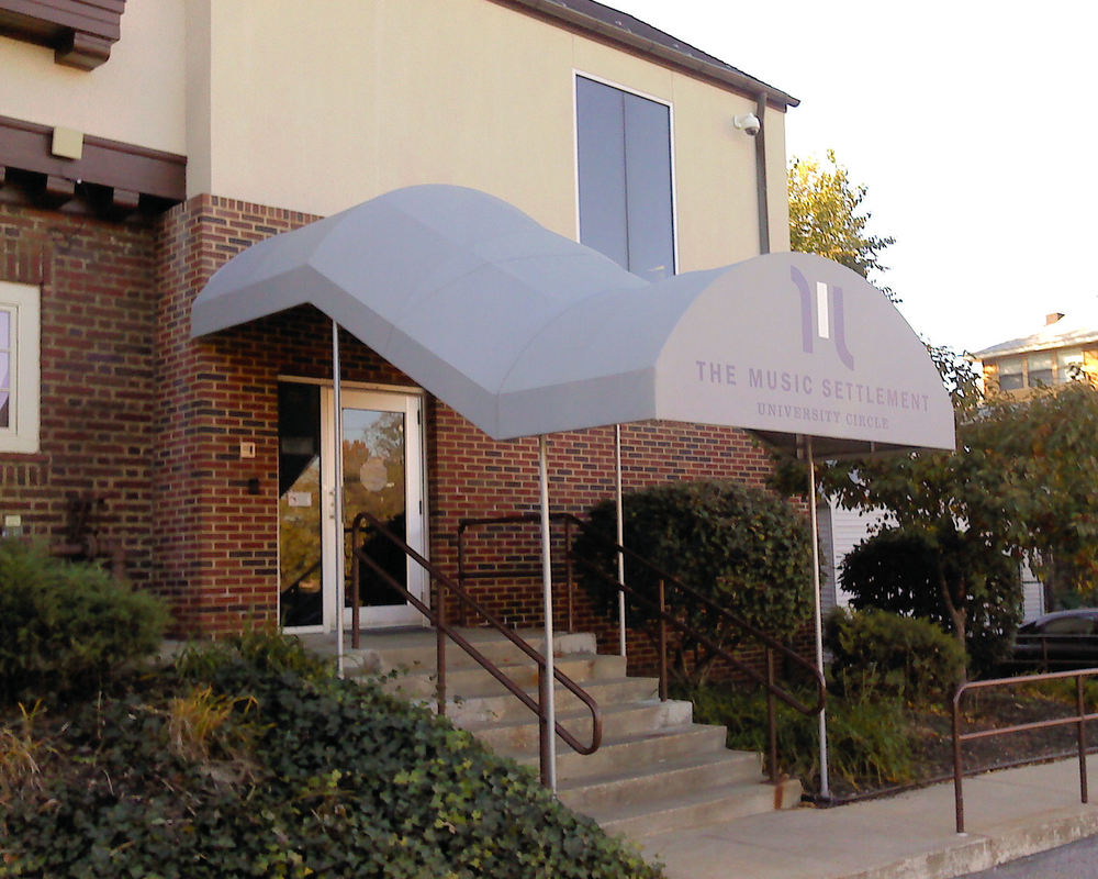 Stairway Entrance Canopy Awning & Canopy Awnings in Cleveland OH | CEI Awning u2014 The Canvas Exchange ...