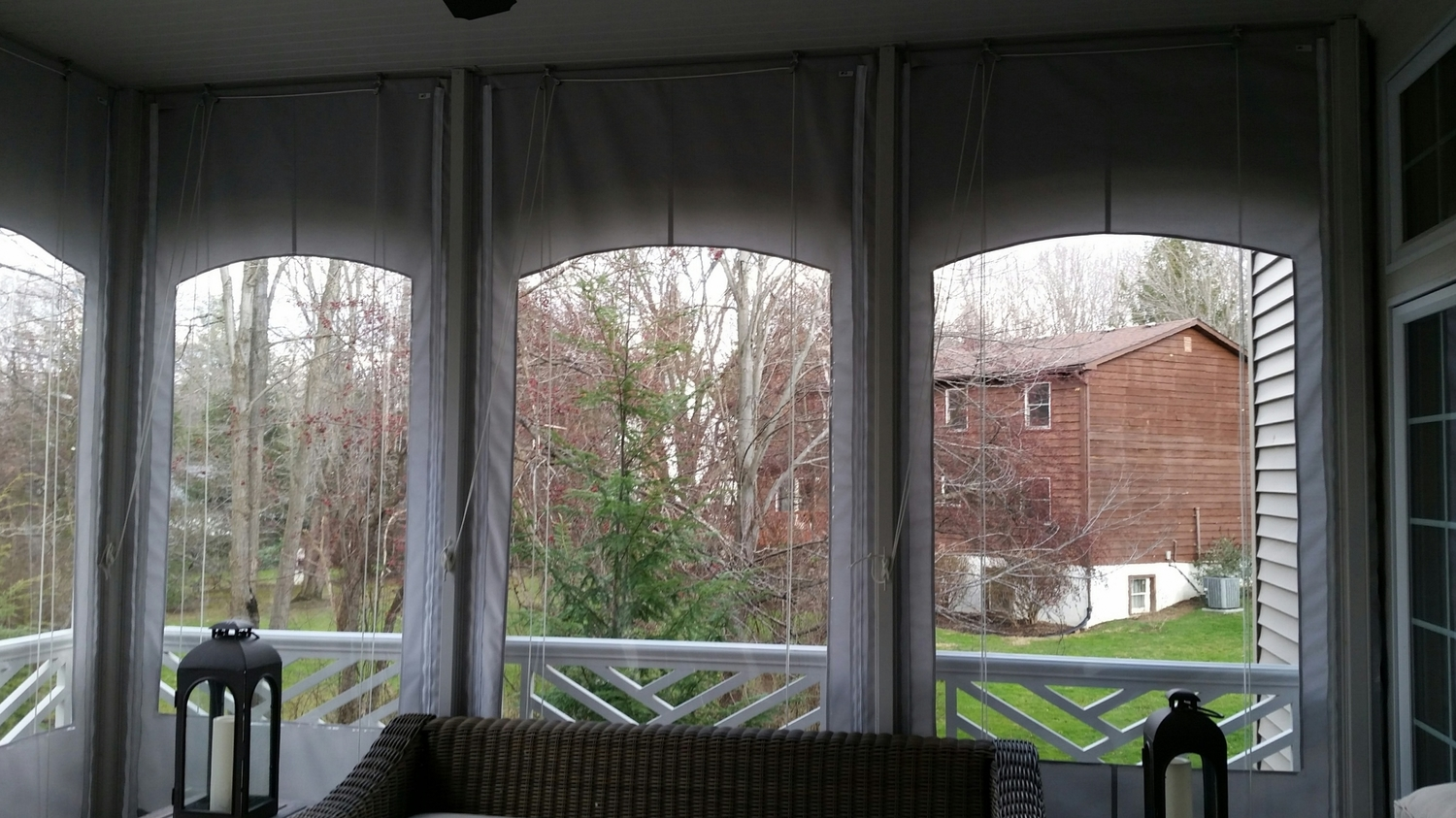 All Weather Roller Curtains With Side Zippers Molding