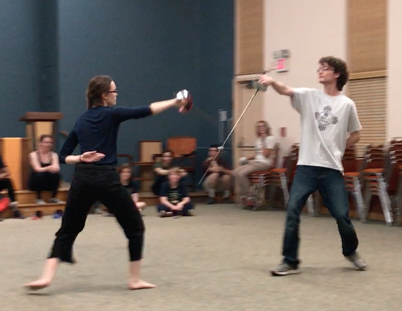 Swashbuckling with Ambrose...