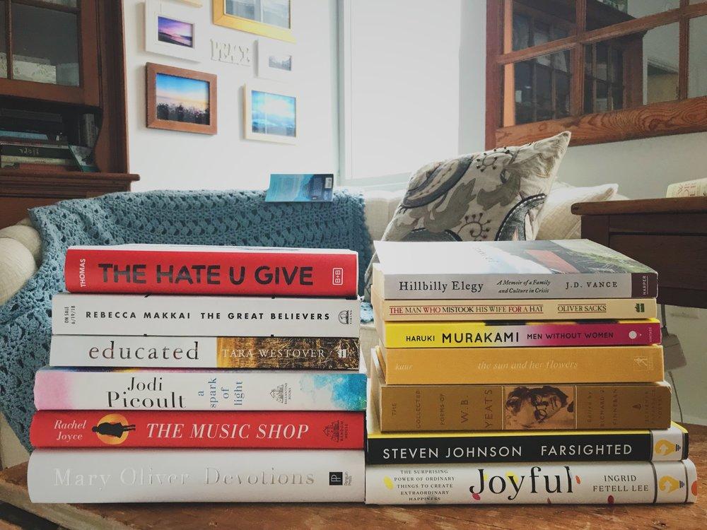 2019 Book Stack so far…