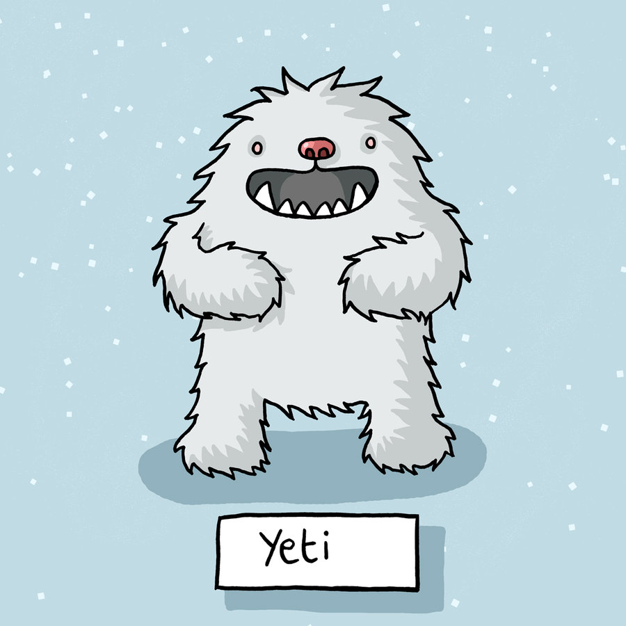 Yeti image from the Venkman Project on Deviant Art but the page cannot be found.