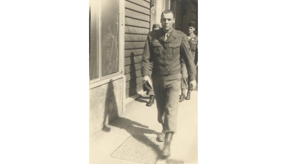 1943-46 U.S. Army . During World War II, served as a machine gunner and infantry staff sergeant in the North African/Italian campaigns.