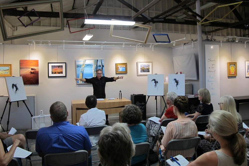 "A photo from my ""Your Creativity Matters"" lecture at the Paso Robles Art Association."