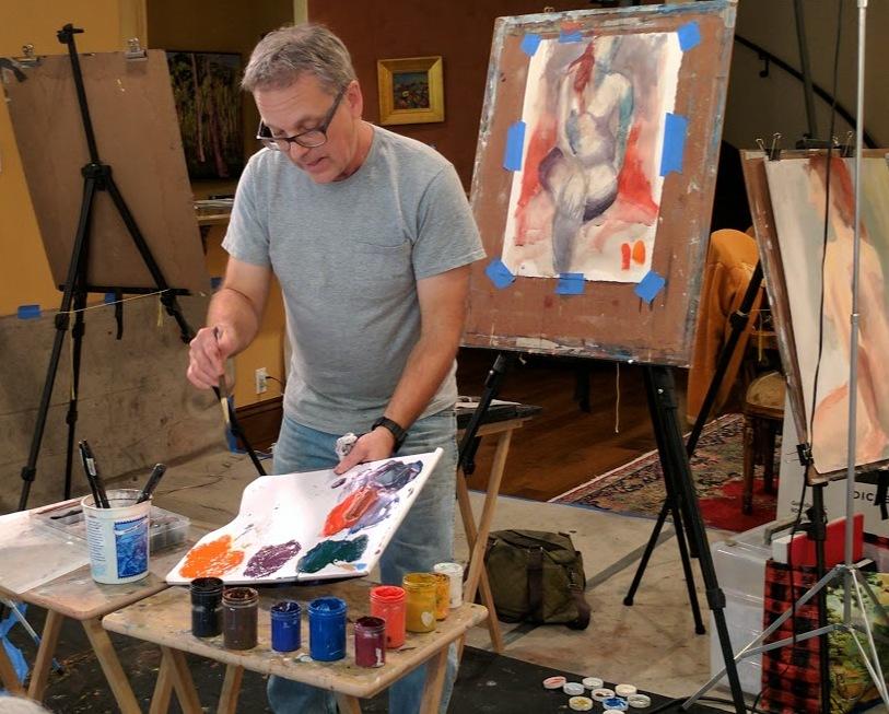 Mixed Media Figure Drawing Figure Painting Workshop Santa Monica-Copyright 2017 David Limrite Artist Teacher Coach Mentor