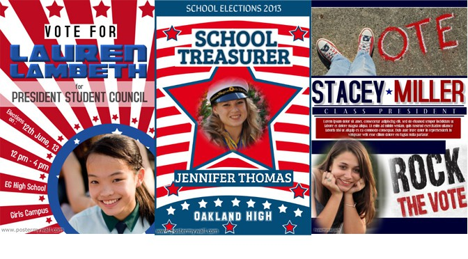 posters and flyers for your school election design studio