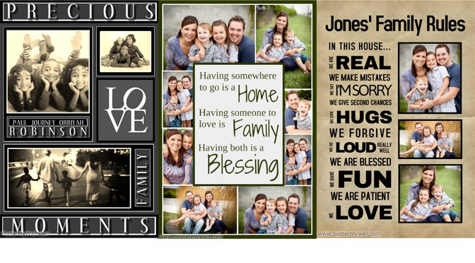 Create New Year Family Collages with PosterMyWall ... Friends With Kids Poster